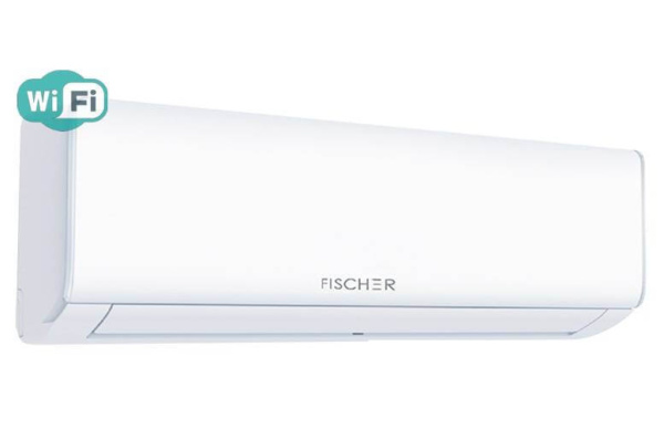 Кондиціонер Fischer STARK FIFO-12SIN, внутрішній блок зліва. Climatzone.com.ua, Мукачево, Закарпаття.